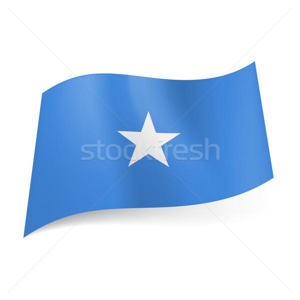 Pavillon Somalie blanche star centre bleu Photo stock © dvarg