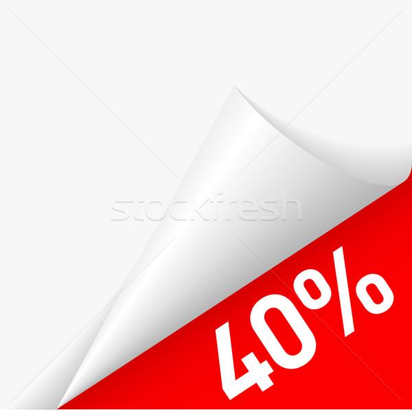 Paper corner discount Stock photo © dvarg