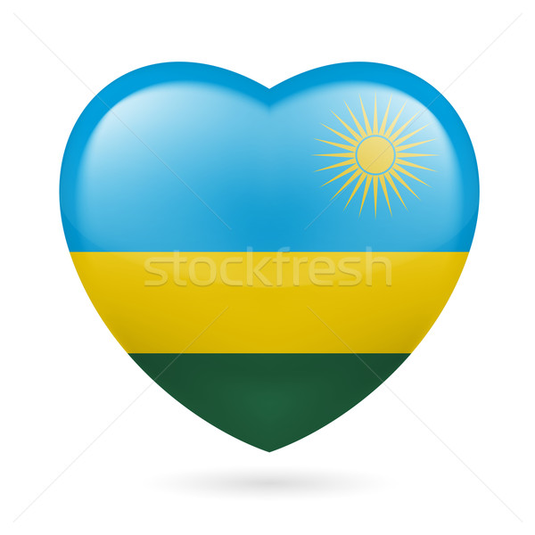 сердце икона Руанда флаг цветами любви Сток-фото © dvarg
