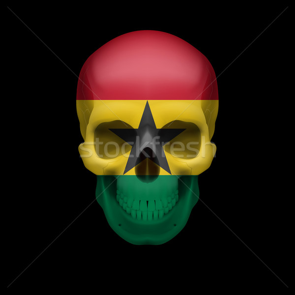 Ghanian flag skull Stock photo © dvarg