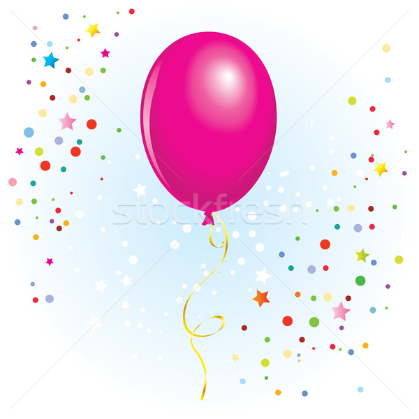 Ballon gekruld lint magenta vector formaat Stockfoto © dvarg