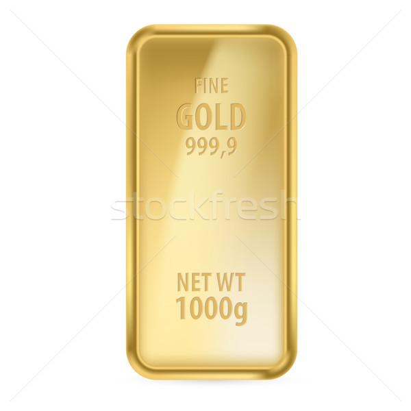 Aranyrúd fehér üzlet háttér fém arany Stock fotó © dvarg