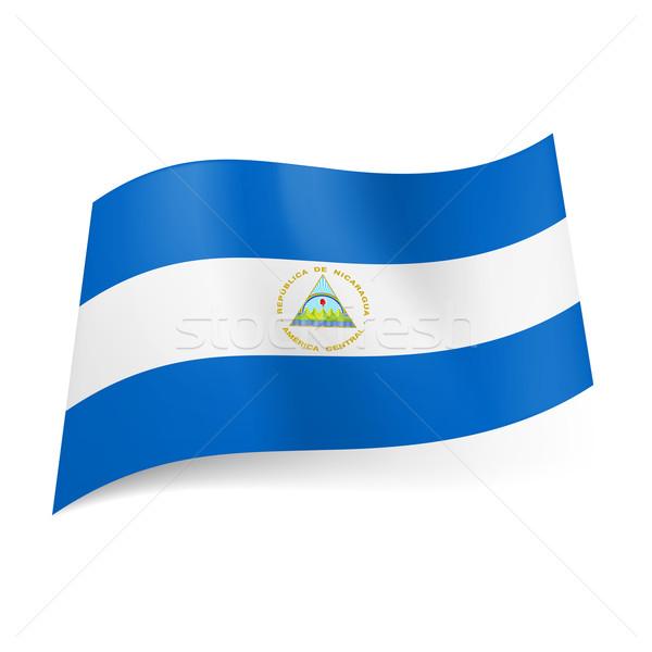 Bandeira Nicarágua branco horizontal tira casaco Foto stock © dvarg