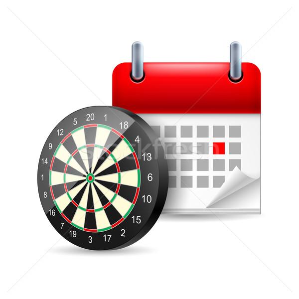 Darts and calendar Stock photo © dvarg