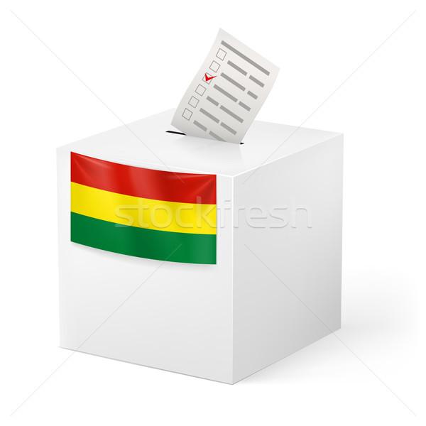 投票 ボックス 投票 紙 ボリビア 選挙 ストックフォト © dvarg