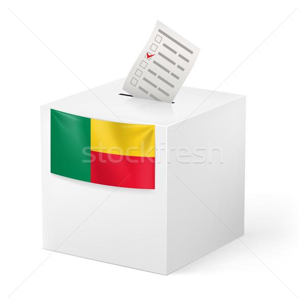 Szavazócédula doboz szavazás papír Benin választás Stock fotó © dvarg