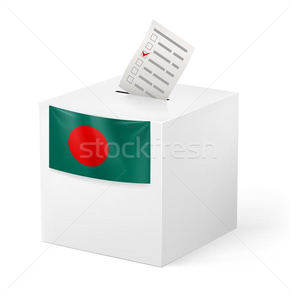Szavazócédula doboz szavazás papír Banglades választás Stock fotó © dvarg