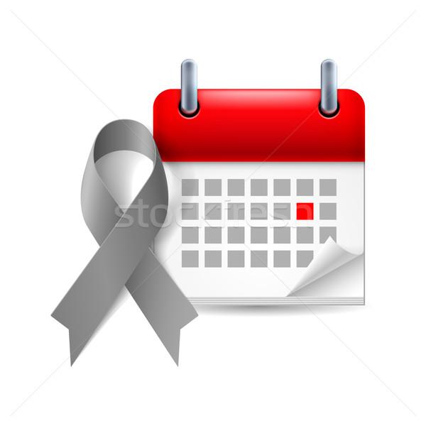 Gris conscience ruban calendrier jour diabète Photo stock © dvarg