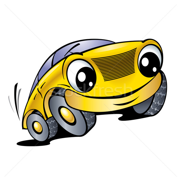 Funny yellow car Stock photo © dvarg