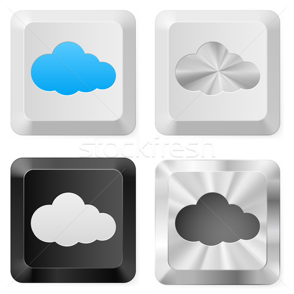 Clouds on the buttons Stock photo © dvarg