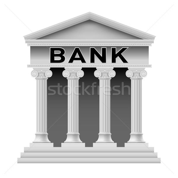 Bank building symbol Stock photo © dvarg