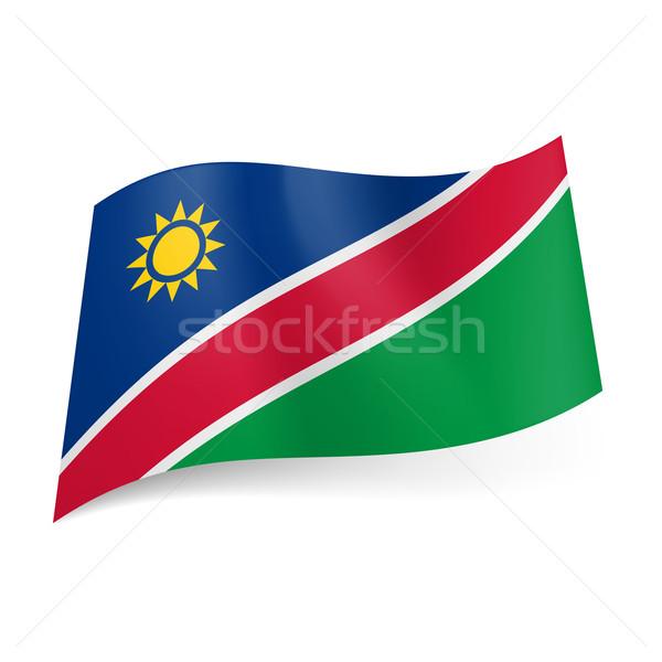 State flag of Namibia Stock photo © dvarg