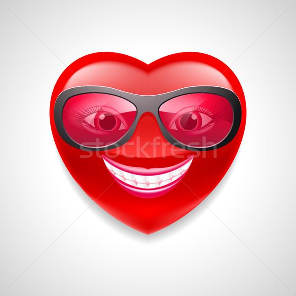 中心 文字 実例 グラマラス 女性 眼鏡 ストックフォト © dvarg