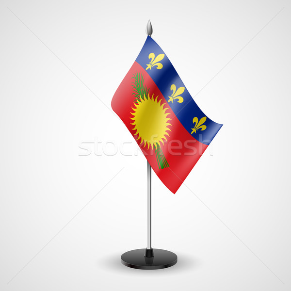 Table flag of Guadeloupe Stock photo © dvarg