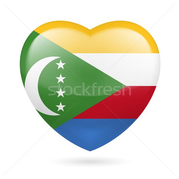 Heart icon of Comoros Stock photo © dvarg