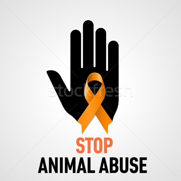 Stock photo: Stop Animal Abuse sign