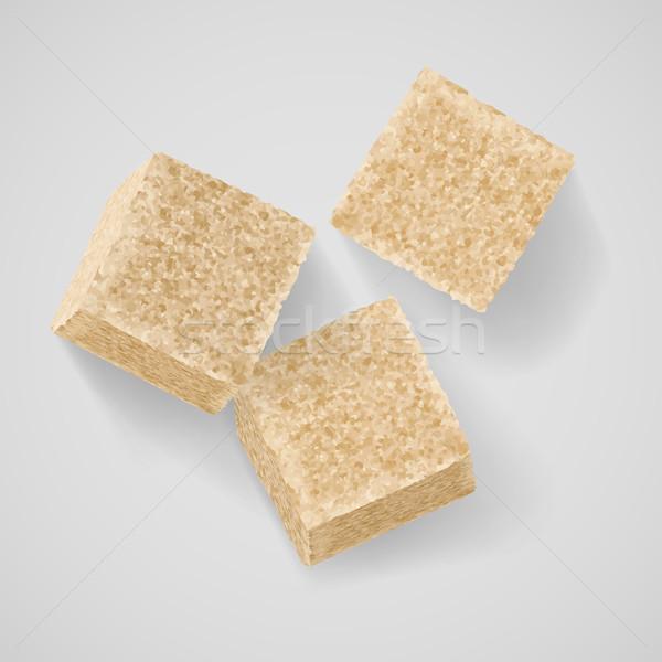 Esmer şeker üç gölge gri doku Stok fotoğraf © dvarg