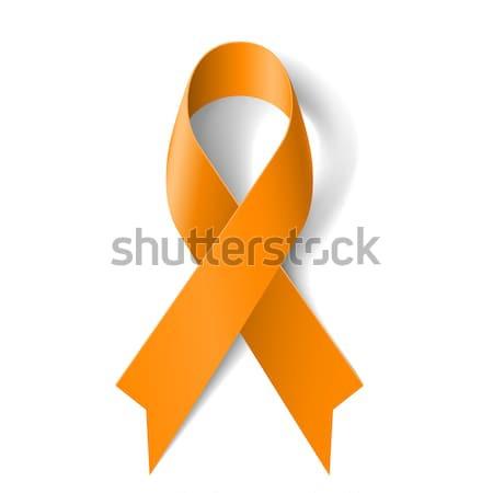 Orange ribbon Stock photo © dvarg