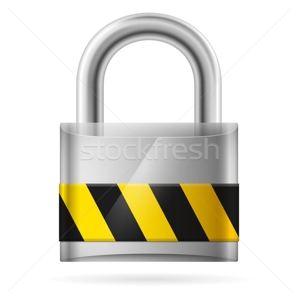 Security concept with locked  pad lock Stock photo © dvarg