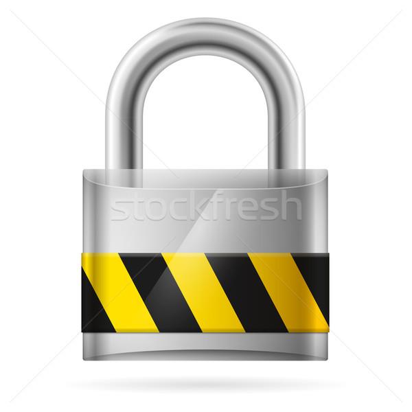 безопасности заблокированный блокировка белый компьютер знак Сток-фото © dvarg
