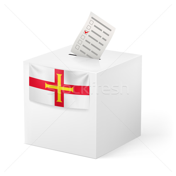 Ballot box with voting paper. Guernsey Stock photo © dvarg