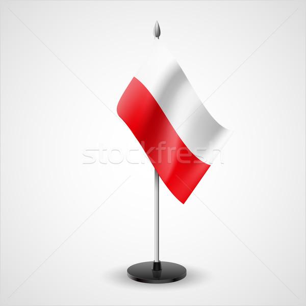 Table flag of Poland Stock photo © dvarg