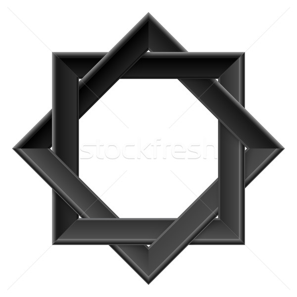 Realistic black frame Stock photo © dvarg