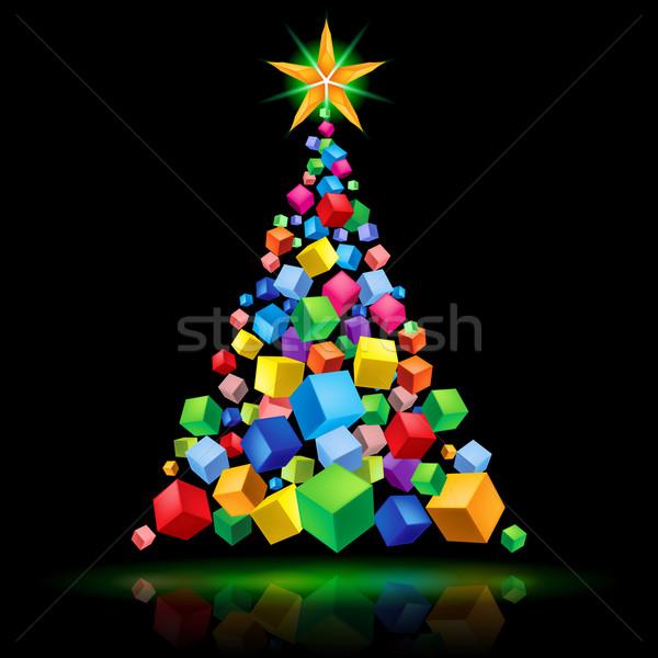 Abstract Christmas tree Stock photo © dvarg