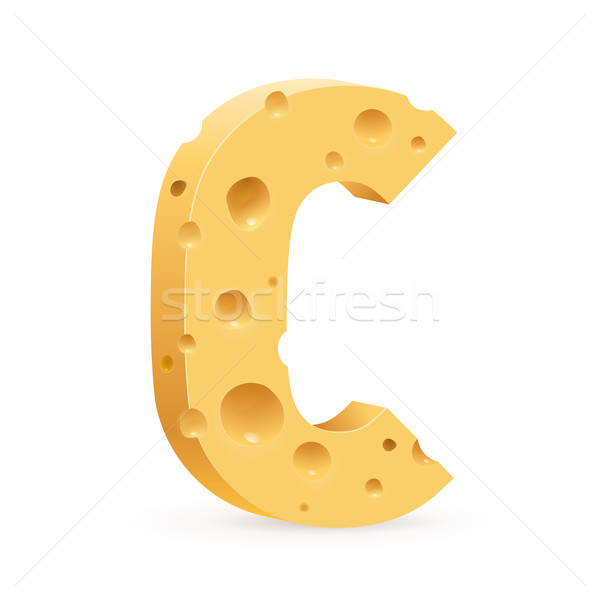 Letter made of Cheese Stock photo © dvarg