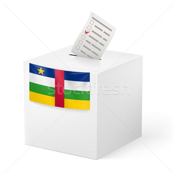 Cédula caixa votação papel central africano Foto stock © dvarg