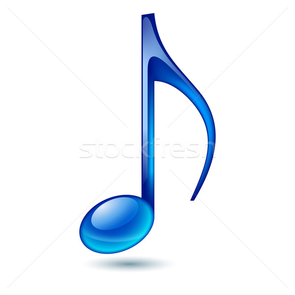 Muziek nota Blauw geïsoleerd witte abstract Stockfoto © dvarg