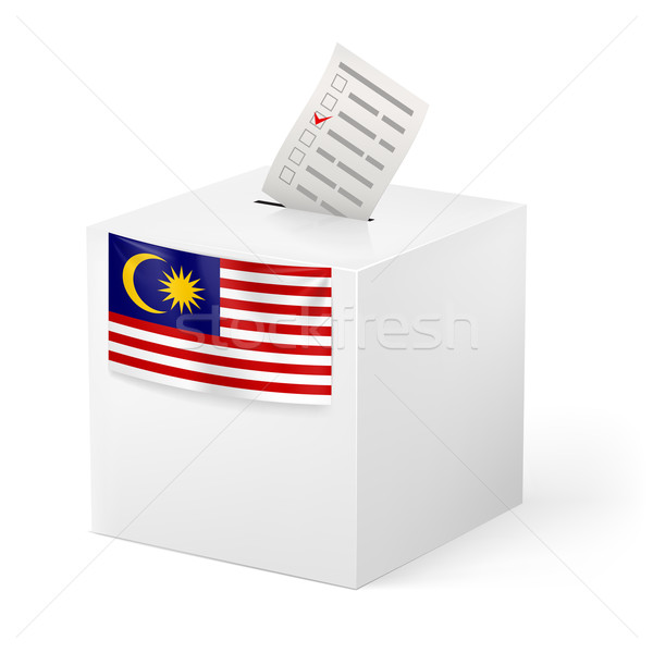 Ballot box with voting paper. Malaysia Stock photo © dvarg