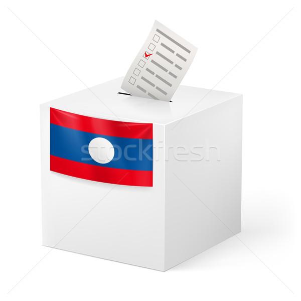 Głosowanie polu głosowanie papieru Laos wyborów Zdjęcia stock © dvarg