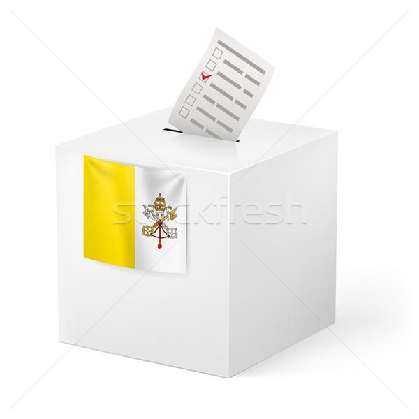 投票 ボックス 投票 紙 バチカン市国 選挙 ストックフォト © dvarg