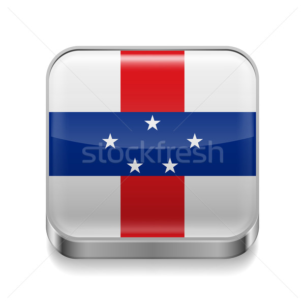 Metal  icon of Netherlands Antilles Stock photo © dvarg