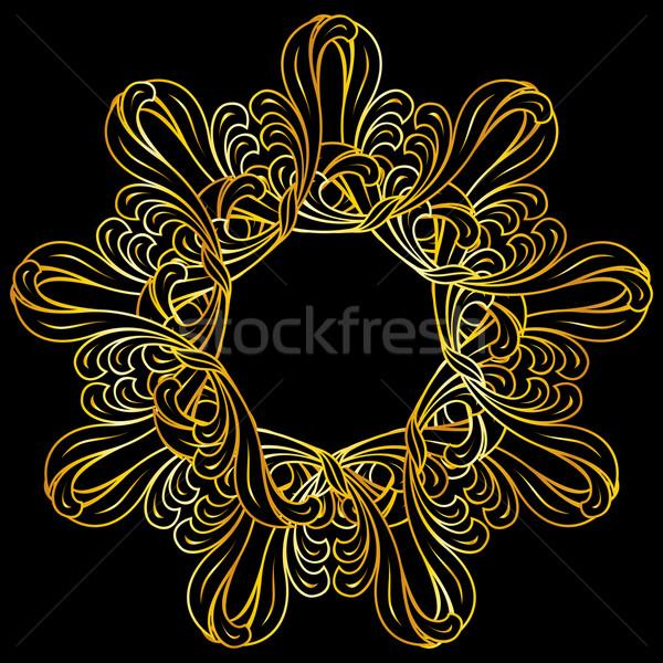 フローラル パターン 色 黒 抽象的な ストックフォト © dvarg