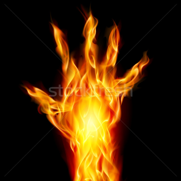 Fire hand Stock photo © dvarg