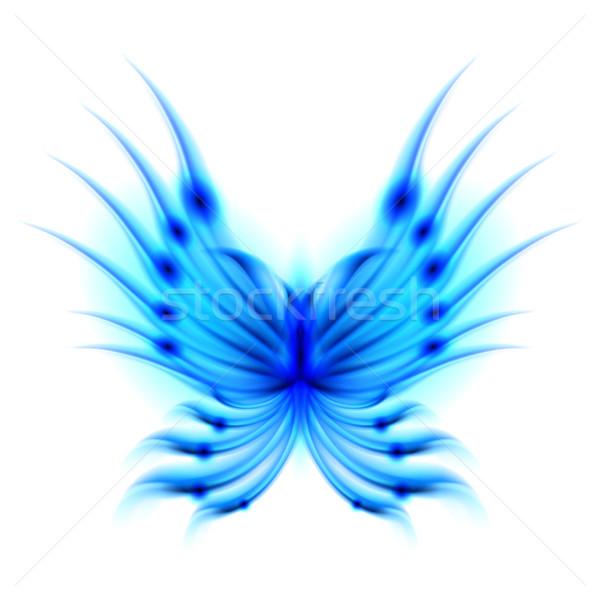Vuelo mariposa ardiente alas azul resumen Foto stock © dvarg