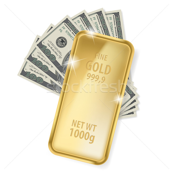 Gold bar and dollars Stock photo © dvarg