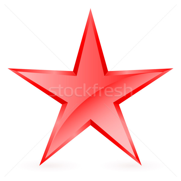 Piros csillag fényes fehér felirat minta Stock fotó © dvarg