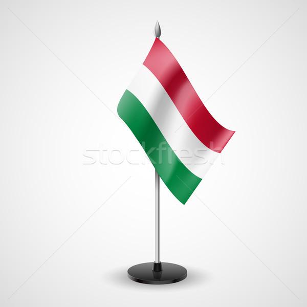 Table flag of Hungary Stock photo © dvarg