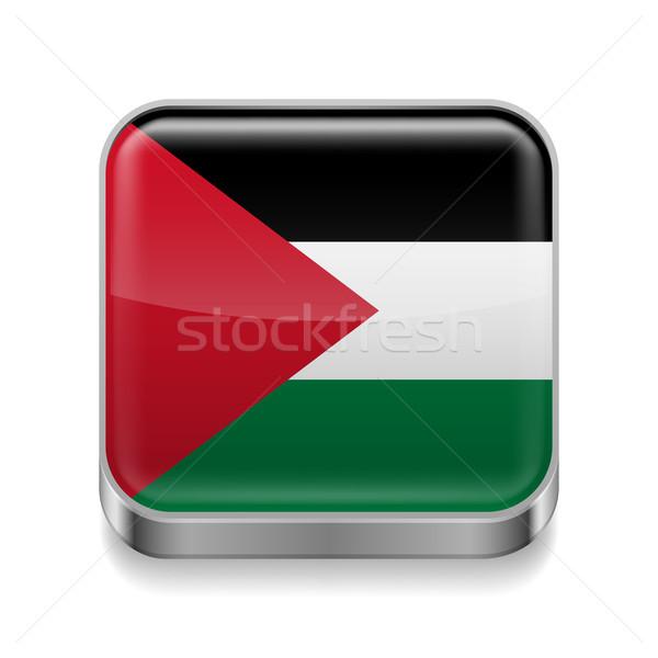 Metal  icon of Palestine Stock photo © dvarg
