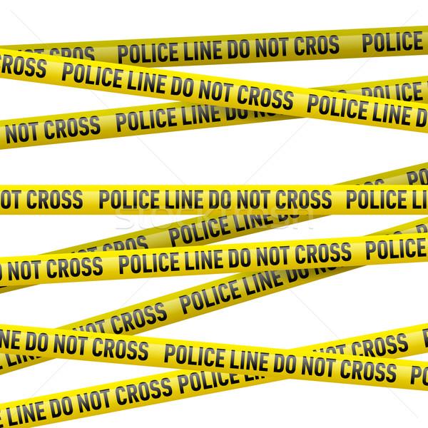 Police danger tape Stock photo © dvarg