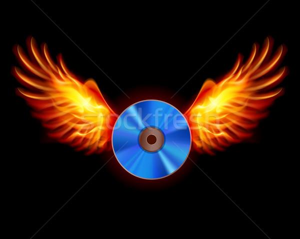 CD-Fiery wings Stock photo © dvarg