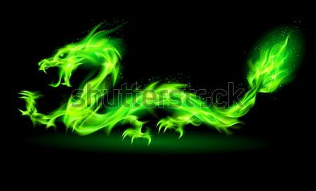 Fire Chinese dragon. Stock photo © dvarg