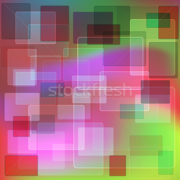 аннотация геометрический прозрачный зеленый красный фиолетовый Сток-фото © dvarg