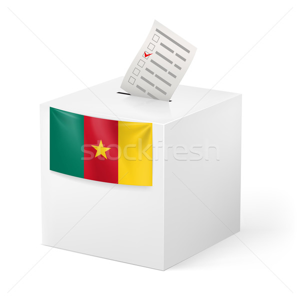 голосование окна голосование бумаги Камерун выборы Сток-фото © dvarg
