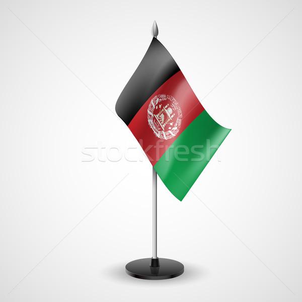 Tabela bandeira Afeganistão mundo conferência secretária Foto stock © dvarg