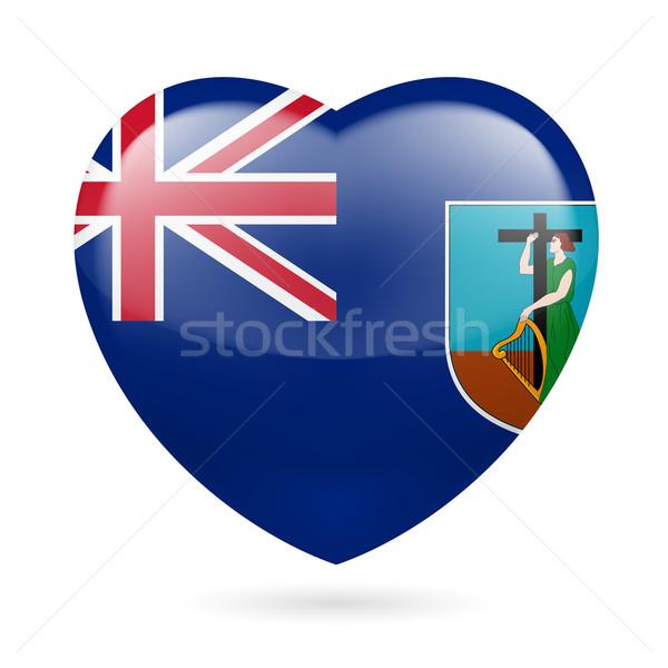Heart icon of  Montserrat Stock photo © dvarg