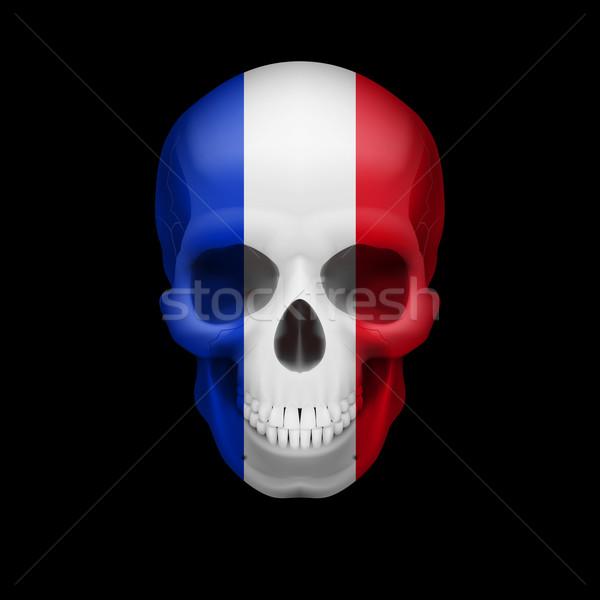 French flag skull Stock photo © dvarg